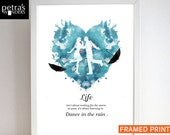 Inspirational, Motivational Quote Print - Life isn't about waiting for the storm to pass, it's about learning to dance in the rain Print.