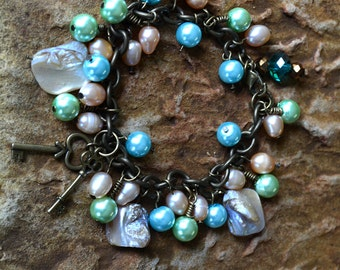 Pastel Sea Shell Bracelet
