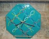 DNA Teal Clock