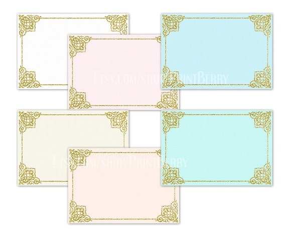 Printable Envelope Template Gold Glitter Envelopes 4X6