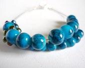 Row counter bracelet for knitting and crochet: abacus bracelet in blue, knitting bracelet, knitter's bracelet - UK seller