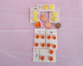 Vintage Orange And Yellow Buttons