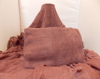 Cognac Colored Dyed Cheesecloth