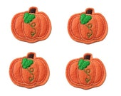 UNCUT  Harvest Pumpkin felt applique embellishment feltie fall hair bow center (4)