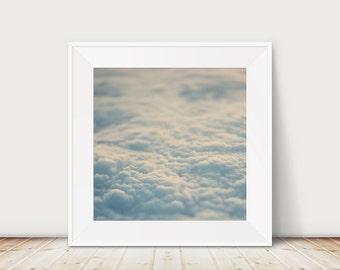clouds photograph clouds print sky photograph nursery wall art sky print flying photograph travel photography clouds art