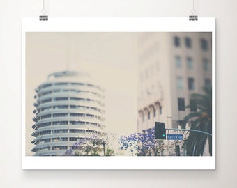 LA photograph Hollywood photograph capitol records photograph Los Angeles photograph California photograph California print LA print