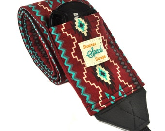 DSLR Camera Strap with Lens Pocket - The Tribal