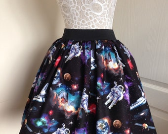 Ladies or girls Space Traveller full skater style skirt