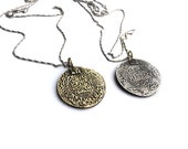 Moroccan Ethnic Coin Gold or silver Pendant men and women Layering Statement Necklace