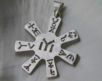 Handcrafted 925 Sterling Silver Rosette From Pliska Pendant IYI Tangra Dullo