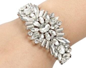 Bridal Bracelet Wedding Bracelet Silver Pearl White Wedding Bracelet Bridal Jewelry Wedding Jewelry Bridal Accessories Style-133