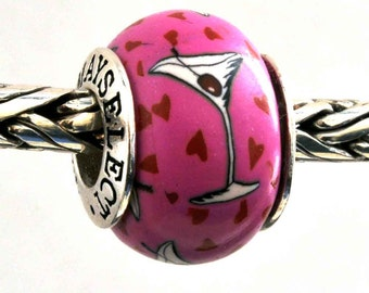 Martini Jewelry Bead Charm for all European Charm Bracelets by MAYselect by May Tagher, MAYcreations