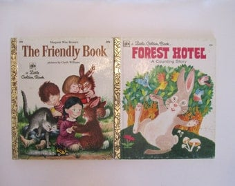 The Friendly Book & Forest Hotel, Little Golden Books, Set of Two 2