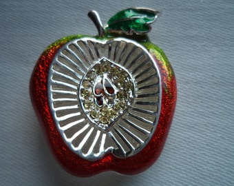Vintage Danecraft Red Apple Brooch/Pin