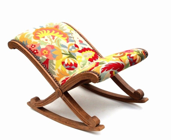 Wonderful French Foot Stool Leg Rest Antique By