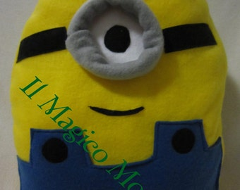 Minion cushion, handmade fleece