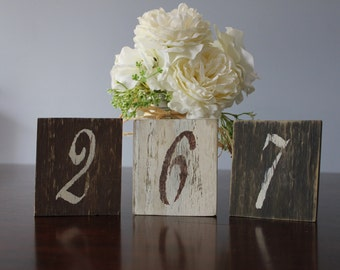 Rustic Table Numbers, Shabby Chic Table Numbers Wedding Decor Set of 16