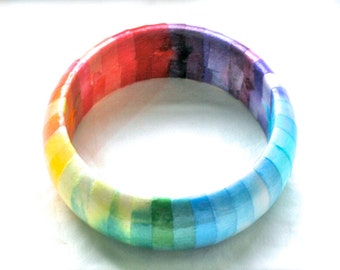 Rainbow Bracelet, Rainbow Bangle, Custom Bangle, Custom Bracelet, Custom Jewelry, Customized Jewelry, Quote Jewelry, Name Jewelry, Lyrics