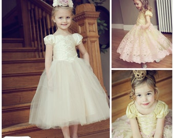 Beloved Fairytale Ballerina Princess Dress Instant Download PDF Sewing Pattern  Girls Sz 3-6M to 10