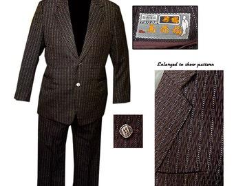 Vintage Mens 2 Button Suit / Mod Suit / Mad Men Suit / Rockabilly Suit