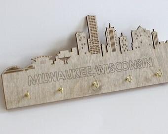Milwaukee Skyline Key Holder by PaperCuts