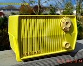 MP3 READY - HARVEST YELLOW Mid Century Retro Jetsons Vintage 1959 Emerson Model 4L26A Tube Radio Totally Restored!