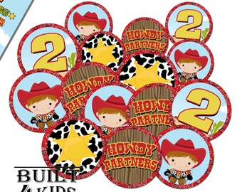 Lil Cowboy Cupcake Toppers / Instant Download