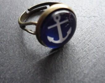 Ring Anchor blue adjustable