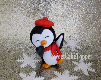 Penguin Cake Topper - exclusive design by SweetCakeTopper