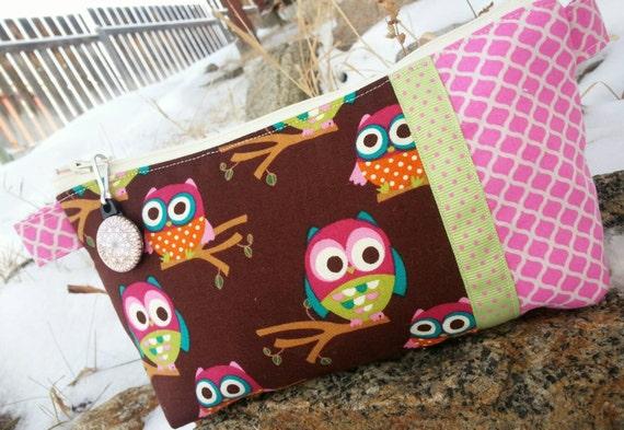 Owl Pencil Case, Cosmetic Bag
