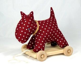 Scottie Dog Pull Along Toy Dog Pull Toy Polka Dot