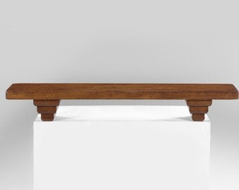 No. 660 Small Fireplace Mantel In Pine, Pine Finish, Very Severe Antique  Distressing