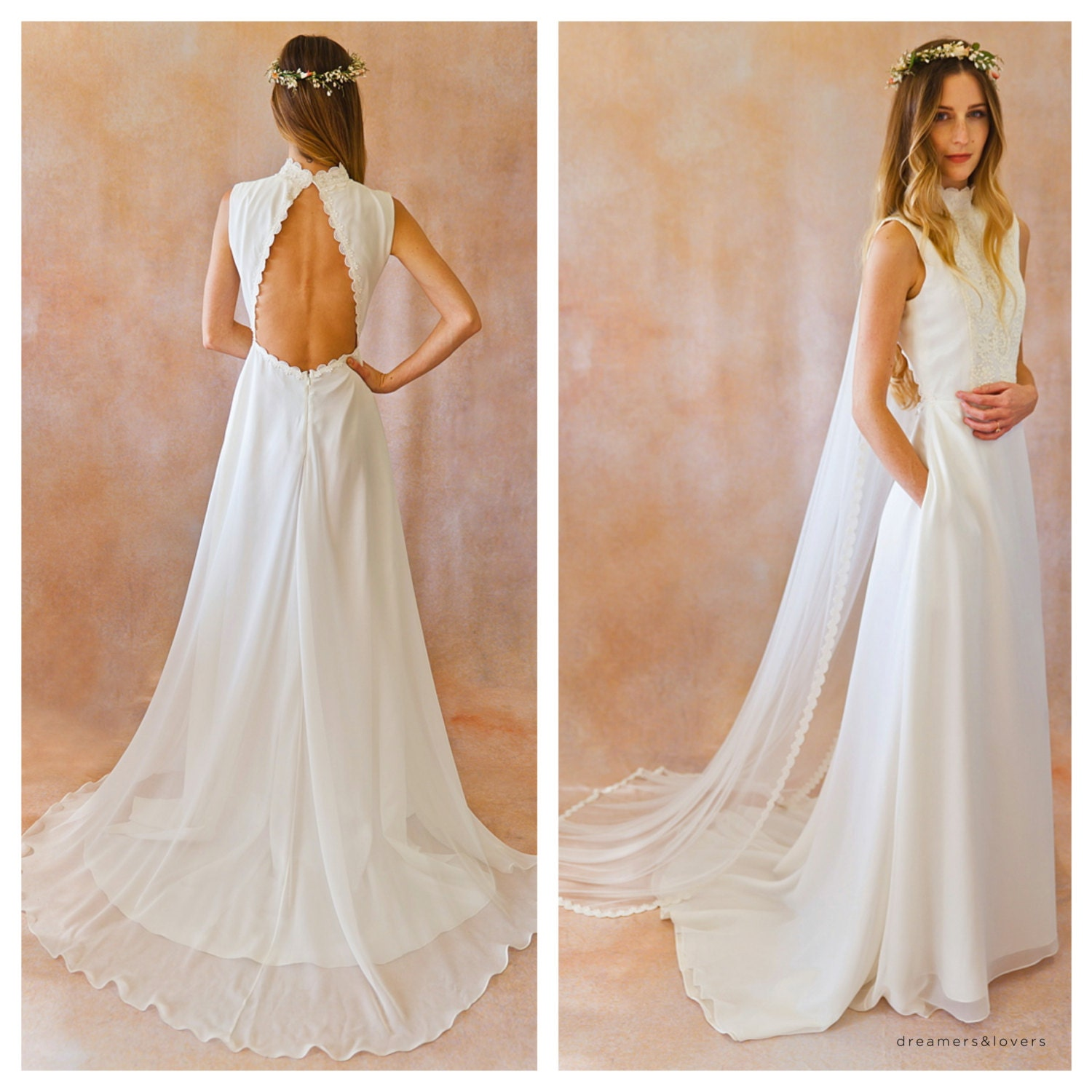 Silk Wedding Dresses Low Back Low Back Ivory Silk And Lace