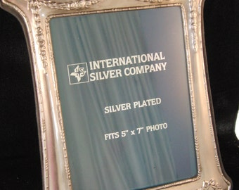 Vintage silver plated photo frame by International Silver Company