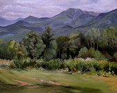 Mount Lafayette from Sugarhill NH Framed Oil Painting