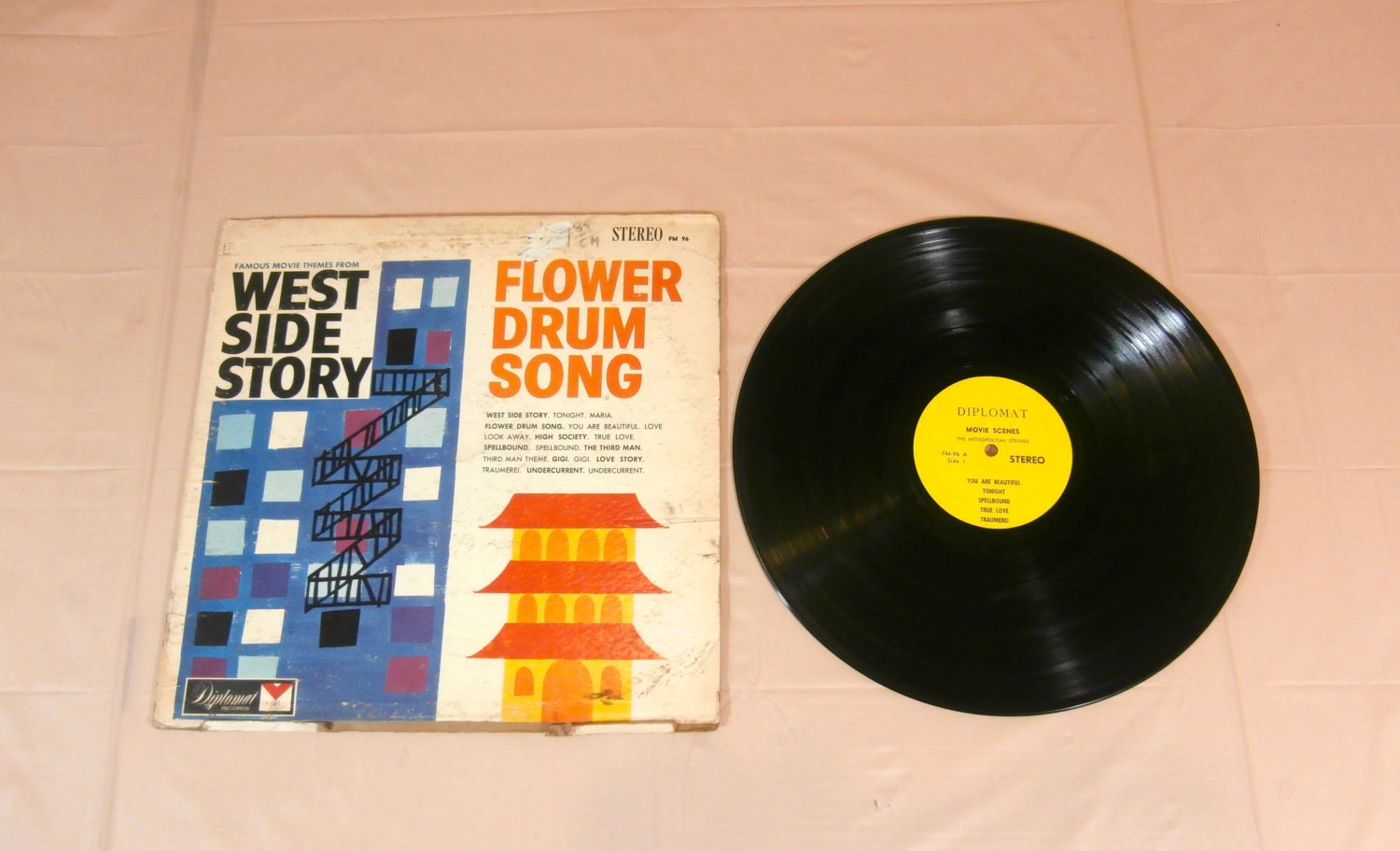 West Side Story Flower Drum Song Music LP Record ALBUM FM