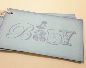 Baby tags/ blue baby tags/ wishing tree tags