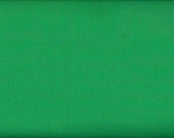 Kelly Solid Cotton Fabric -- Kelly Green Fabric -- Fabric By The Yard