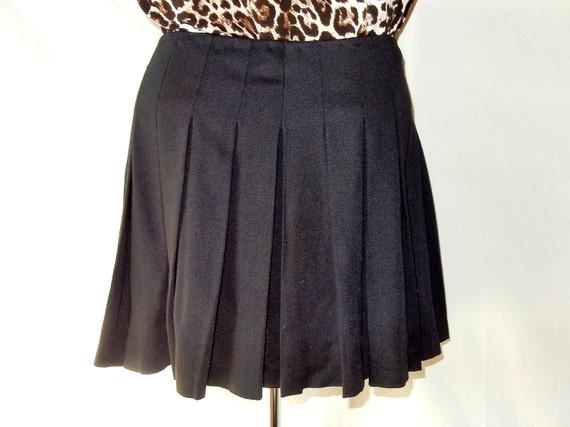 pleated wrap wool micro mini skirt sz 12 14 size l large