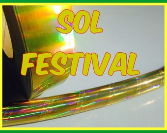 "1"" Sol Festival Metallic Hula Hoop Tape"
