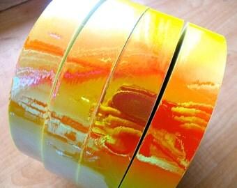"""3/4"""" Sun & Fire Metallic Hula Hoop Tape"""