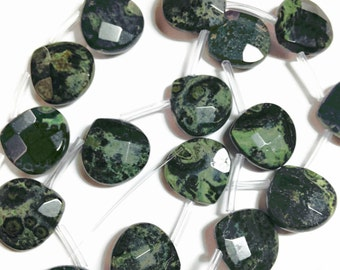 Large kambaba jasper faceted briolettes.  Approx. 16x16mm - 16.5x16.5mm.  Select a quantity.