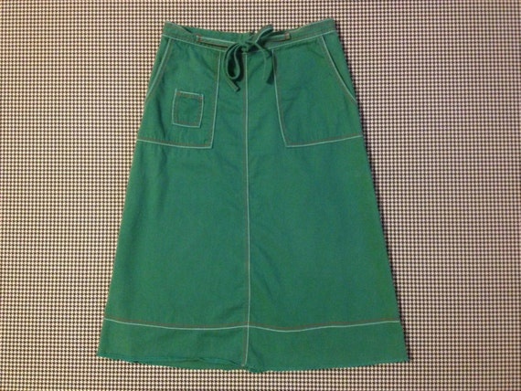 1990 s simple a line skirt in chalkboard green with