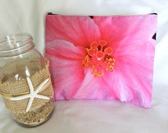 POLY-ZIP Photo Clutch -- Hibiscus Love