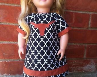 Longhorn Applique A-line Doll Dress