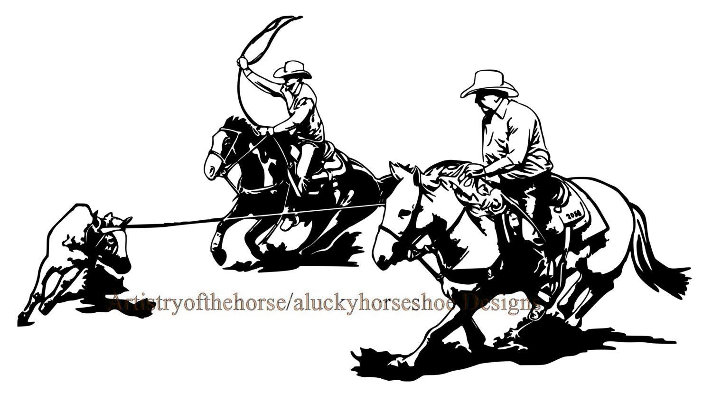 horse trailer trailer decal horse decal team roping Team Roping Vector Art team roping clipart free