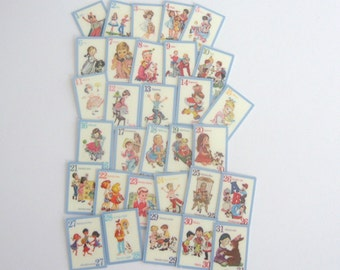 dollhouse numbers  flash cards x 31 nursery school numbers  12th scale miniature