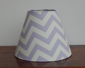 Handmade Lilac/White Chevron Lamp Shade