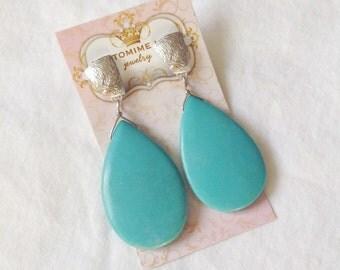 Blue Magnesite Earrings