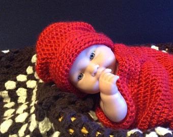 Crochet baby pattern/newborn cocoon pattern/newborn hat pattern/baby cocoon hat pattern/newborn crochet/crochet infant carrier pattern